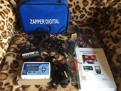 Original Dr Hulda Clark Zapper Digital Ultra In Case Wrist & Foot Straps New