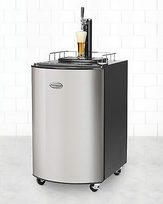 New Stainless Steel Kegerator Home Brew Tap Beer Dispenser Refrigerator KRS2120