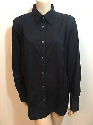 """""""GAP Maternity"""" Size XL (12-16) Ladies Black Casual/Work Button Up Blouse/Shirt"""
