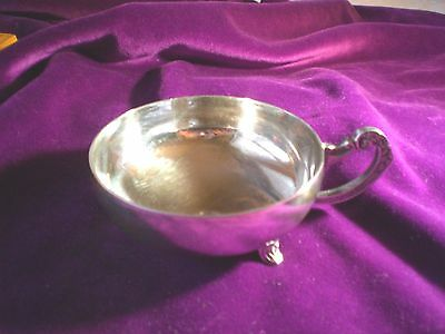 BERLE SILVERPLATED WINE TASTER / Vintage Dish