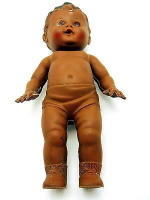 Vintage Sun Rubber Tod L Tot Black African American Drink Wet Squeak Toy Doll