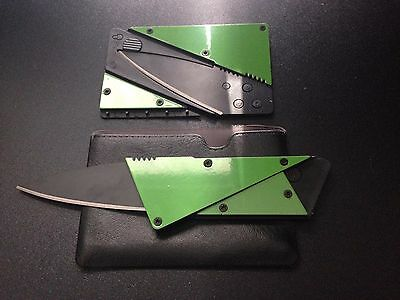 NEW ARRIVAL! Credit card cutting tool letter opener in wallet.GREEN