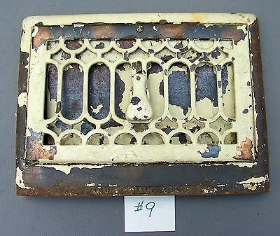"""CAST IRON  Floor/Wall  Register Grate Vent 14-3/4"""" x 11"""" with damper/louvre **#9"""