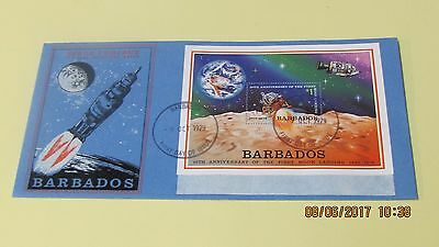 Barbados Unaddressed First Day Cover 10th Anniversary First Moon Landing