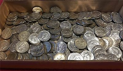 $10 Roll -20 40% Circulated Silver Kennedy Half Dollars Mixed Date Lot 1965-1969