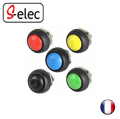 9004# 12mm Waterproof Momentary Push button Switch Black/Red/Green/Yellow/Blue
