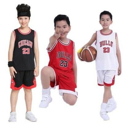 COOL Kids Boy Girl #23 Michael Jordan Chicago Bulls Basketball Jerseys Short Set