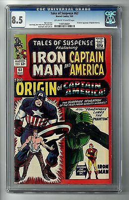 TALES OF SUSPENSE #63 (1965) CGC 8.5 OWW Pages 1st Silver Age Origin Cap America