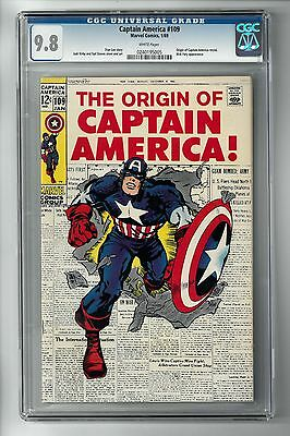 CAPTAIN AMERICA #109 (1969) CGC 9.8 White Pages HIGHEST GRADED