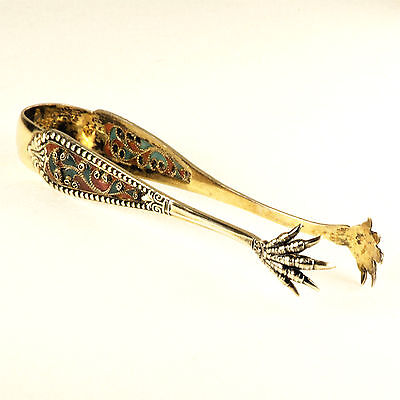 Antique Sterling Silver Campbell-Metcalf Claw Sugar Tongs c1900