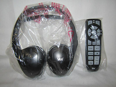 Chrysler,dodge,jeep, Vw Oem Ves 2 Channel Wireless 1 Headphone And Remote New