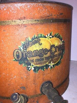 Vintage 1920's Orange Crush Soda Dispenser Fountain Very Rare Coca Cola Pepsi