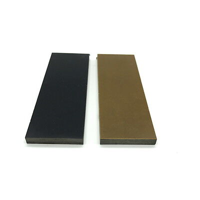 "Black Brown Paper Micarta Knife Handle Scale Blanks 1/4"" Op"