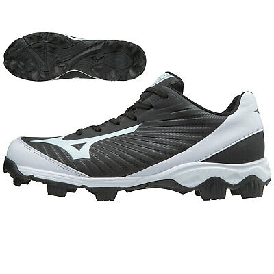 Mizuno Youth 9-Spike Advanced Franchise 9 Low Baseball Cleats, Black/White - 3.5