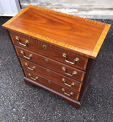 Councill Furniture Company Mahogany Banded Fancy Petite Chest, Server, Stand