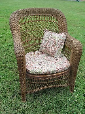 Antique Woven Natural Wicker Chair