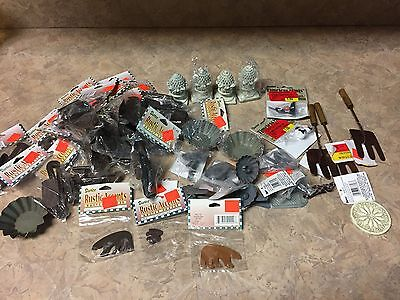 LOT Darice Rustic Accents Rusted Shapes TIN ICE SKATES ETC HUGE LOT MUST SEE NEW