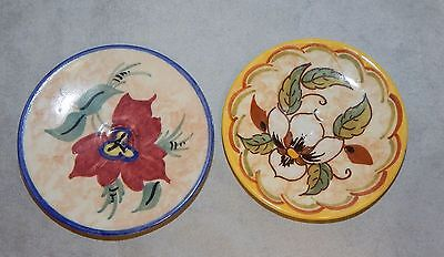 Zenith Gouda Pottery 2 Painted Astrid Butter Pats