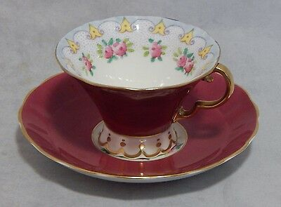 Adderley England Roses Gold Trim Cup and Saucer Set
