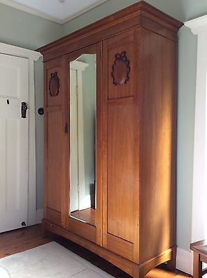 Solid QLD Maple antique wardrobe