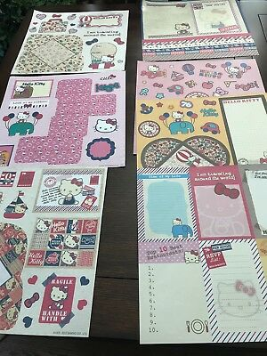 Hello Kitty 12 X 12 Scrapbook Paper Pack 7 New 7 Used Sheets