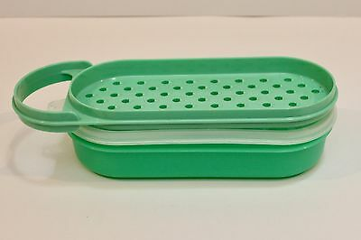 Vintage Tupperware Grate and Store - 3 piece set - Green - GVC