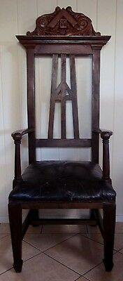 Large Masonic Lodge Chair , pick up in Geelong .