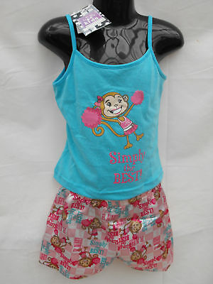 BNWT Girls Sz 4 Cute Cheeky Monkey Summer Pyjama Set