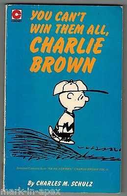 CORONET PEANUTS BOOK - #44 You Can't Win Them All, Charlie Brown - Schulz (PB)