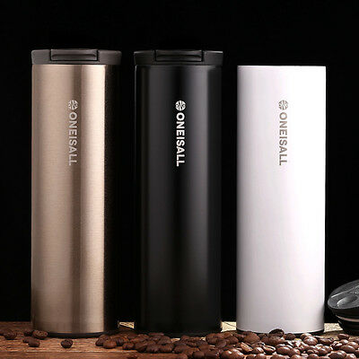 Coffee Mug Double Wall Stainless Steel Cup Travel Tea Insulated Tumbler Thermos