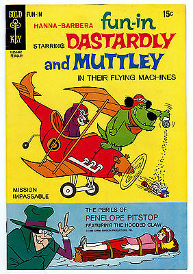 Hanna-Barbera FUN-IN 1 VF- PENELOPE PITSTOP 1970 Gold Key DASTARDLY & MUTTLEY