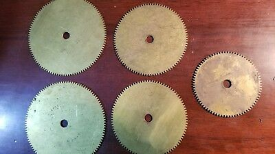 Thin  brass gears Boston Gear G111, G112 (2), G113 (2)