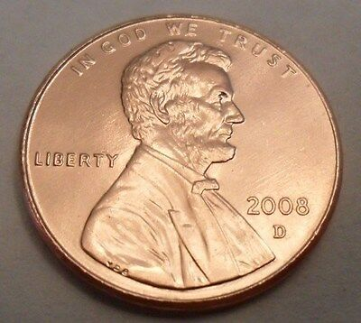2008 D Lincoln Memorial Cent / Penny  **FREE SHIPPING**