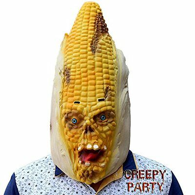 Deluxe Novelty Masks Halloween Costume Party Latex Vegetables Head Corn Mask