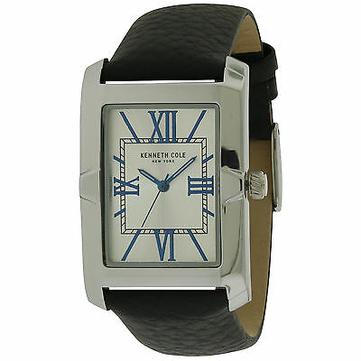 Kenneth Cole New York 35x30mm Men's Rectangular Leather Watch 10031341 NEW!