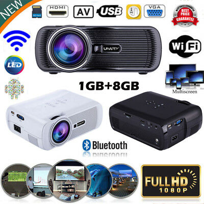 Android 6.0 Wireless Bluetooth WIFI Full HD 1080P Projector Home Theater Cinema