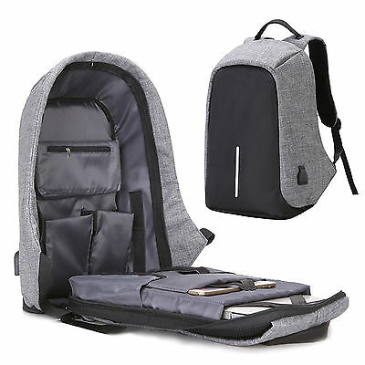 New USB Charge Men Travel Security School Bag Anti Theft Casual Laptop Backpack