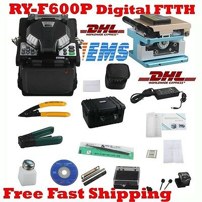 New RY-F600P FTTH Fibre Fusion Splicer w/ Optical Fiber Cleaver Stripper
