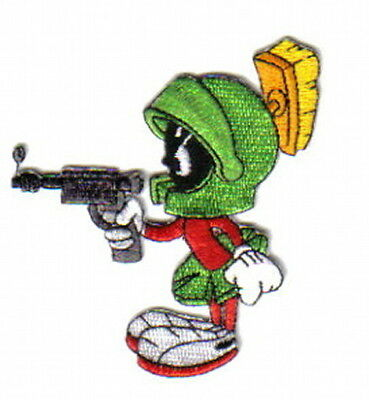Looney Tunes Marvin The Martian Pointing Raygun Figure Embroidered Patch UNUSED