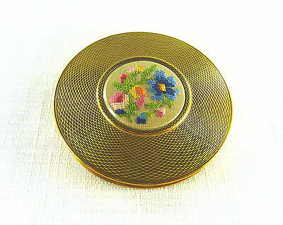 Collectable Vintage Petite Point Powder Compact