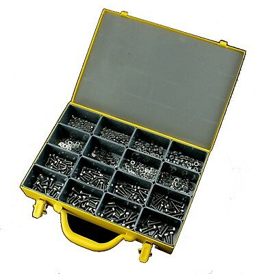 Metric Bolt Nut Washer Stainless 316 Assortment Kit Marine Set Screw - 810 piece