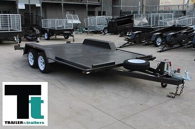 14 x 6'6 Car Carrier Trailer Tandem *NEW TYRES* BEAVER TAIL