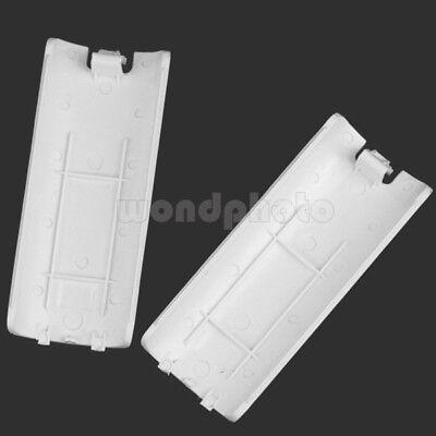 2pcs Battery-Back Cover Shell Case for Lid Wii Remote Control Controller White