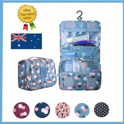 Cosmetic Storage MakeUp Wash Bag Folding Hanging Toiletry Organizer Pouch Holder