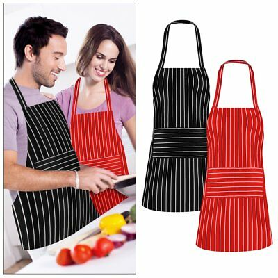 Strip Apron Pocket  Chef Kitchen Cooking Baking Bar Cafe Waiter Unisex  Washable