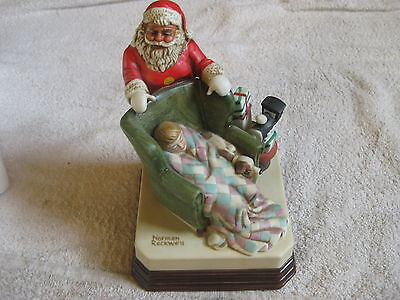 Norman Rockwell Waiting For Santa Musical Figurine