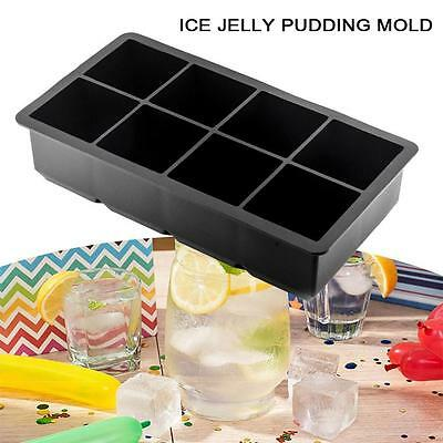 Jumbo King Size Large BBQ Ice Cube Square Tray Mold Jelly Silicone Mould DIY TB