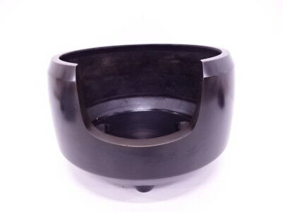 3133872: Japanese Tea Ceremony Bronze Furo Brazier Faceting
