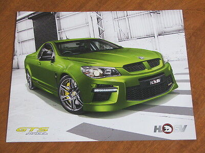 2014 HSV GTS Maloo Ute original Australian large format 4 page brochure