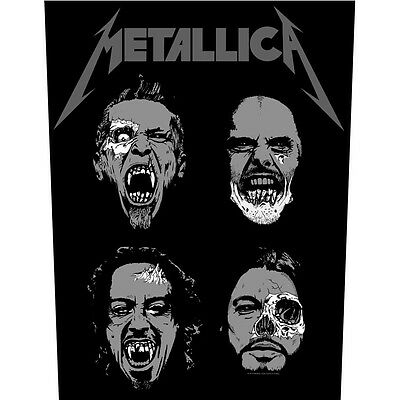 Metallica Undead Back Patch XLG free worldwide shipping